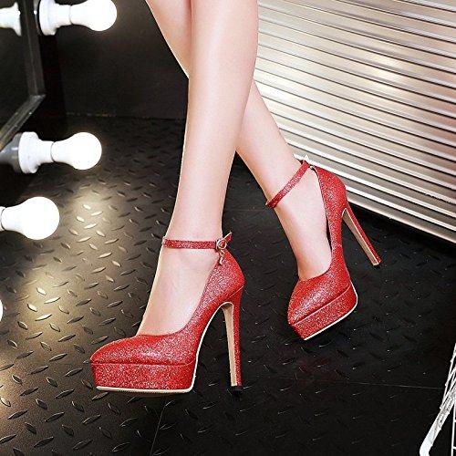 Scarpe A Scarpe HBDLH Unico Impermeabili Scarpe Scarpe Punta Sposa donna Con Alti Pin Tacchi silvery 13 Da Cm Le Scarpe da Singolo pw00dxqP