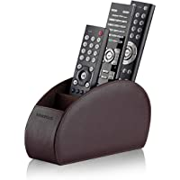 (Brown, Single Remote Width) - Sonorous Luxury Remote Control Holder - Brown