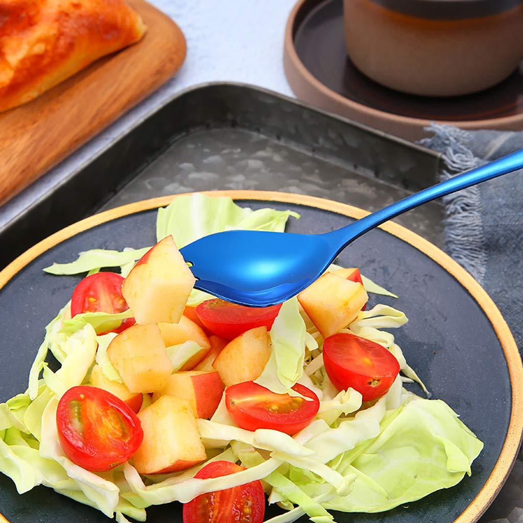 Skays Cuchara de cocina helado Multicolor caf/é y postre Cuchara de acero inoxidable para servir utensilios de cocina coloridos para caf/é