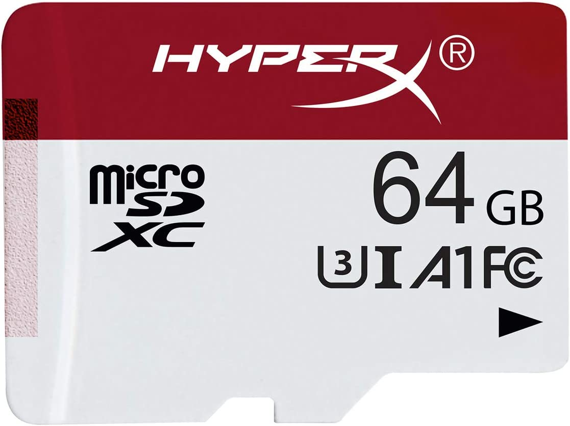 HyperX HXSDC/64GB microSDXC Gaming 100R/80W U3 UHS-I A1 Card Only