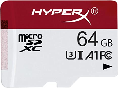 HyperX HXSDC/64GB microSDXC Gaming 100R/80W U3 UHS-I A1 Card Only