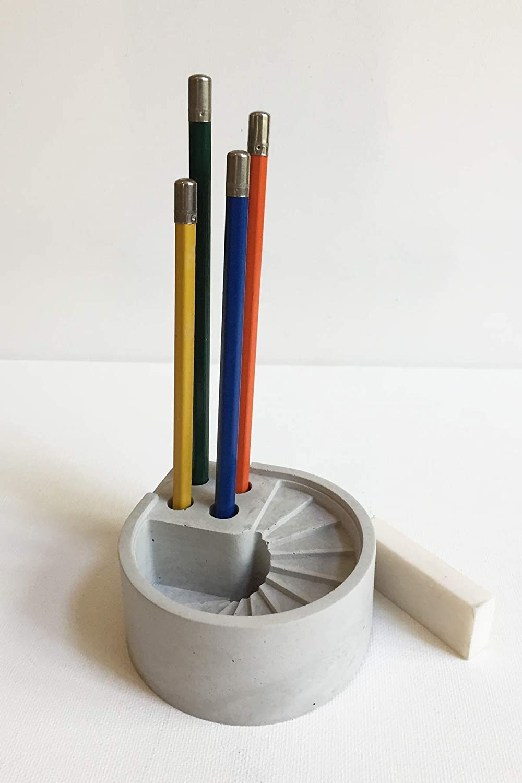 Amazon.com  Concrete Spiral Stair Desk Organizer FREE SHIPPING in USA   Handmade 84e1bb7cae7c