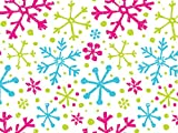 Pack Of 1, Snowflake Jubilee 24'' X 417' Roll Christmas Premium Gift Wrap Papers For 175 -200 Gifts Made In USA
