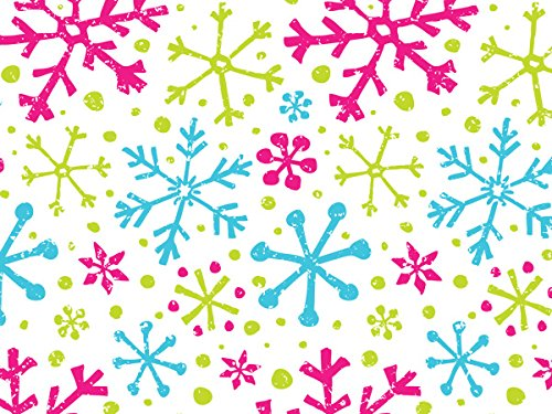 Pack Of 1, Snowflake Jubilee 24'' X 417' Roll Christmas Premium Gift Wrap Papers For 175 -200 Gifts Made In USA by Generic