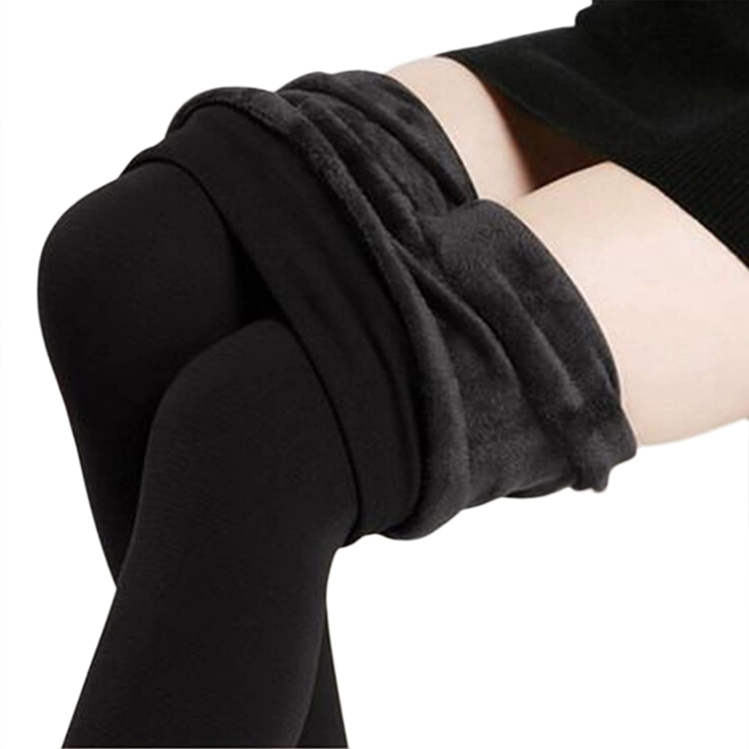 Women's Winter Thick Warm Fleece Lined Thermal Stretchy Leggings ...