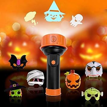 Amazon.com: WEYFLY Linterna de proyección de Halloween y ...