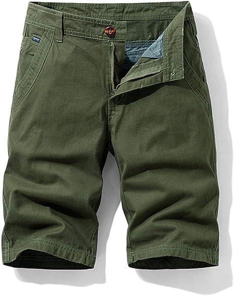 NGRDX&G Bermuda Pantalones Cortos De Carga Rojos Hombres Algodón ...