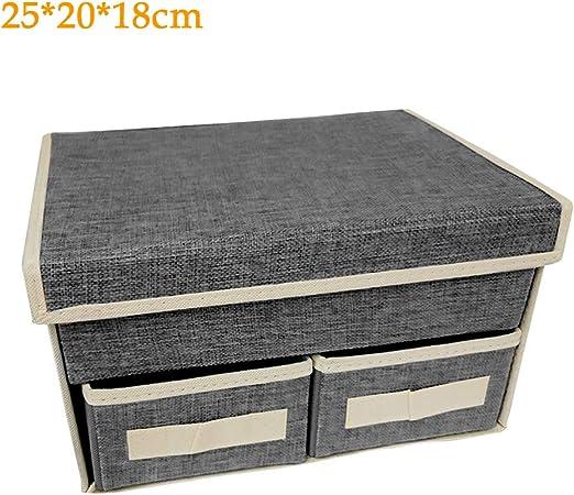Soldmore7 - Caja de Almacenamiento Plegable con Leeds, cajonera Tipo cajón para Ropa, Juguetes, DVD Arte y Libros, CD, lavandería, organización de la lavandería: Amazon.es: Hogar