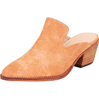 Cambridge Select Women's Pointed Toe Slip-On Chunky Stacked Block Mid Heel Mule | Mules & Clogs