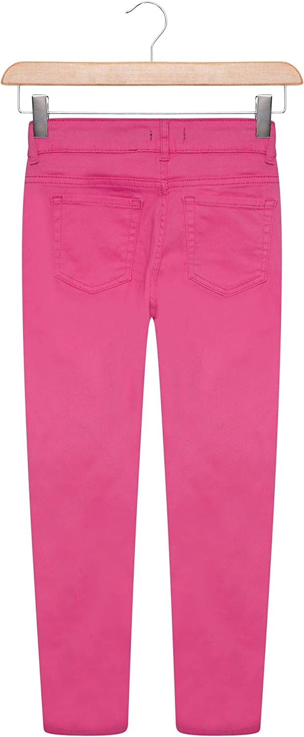 Off The High Street Girls Bright Pink Skinny Jeans Trousers Toddler /& Older Girls 4-14 Years