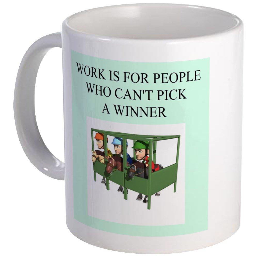 8bc034e5 Amazon.com: CafePress - Horse Racing Gifts T-Shirts Mug - Unique Coffee  Mug, Coffee Cup: Kitchen & Dining