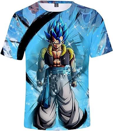 GuiSoHn Hombre Mujer Camiseta de Manga Corta 3D Dragon Ball Super Son Goku Imprimió T-Shirt Tops Cosplay: Amazon.es: Ropa y accesorios