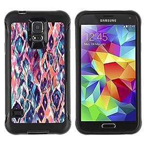 Paccase / Suave TPU GEL Caso Carcasa de Protección Funda para - Watercolor Teal Orange - Samsung Galaxy S5 SM-G900