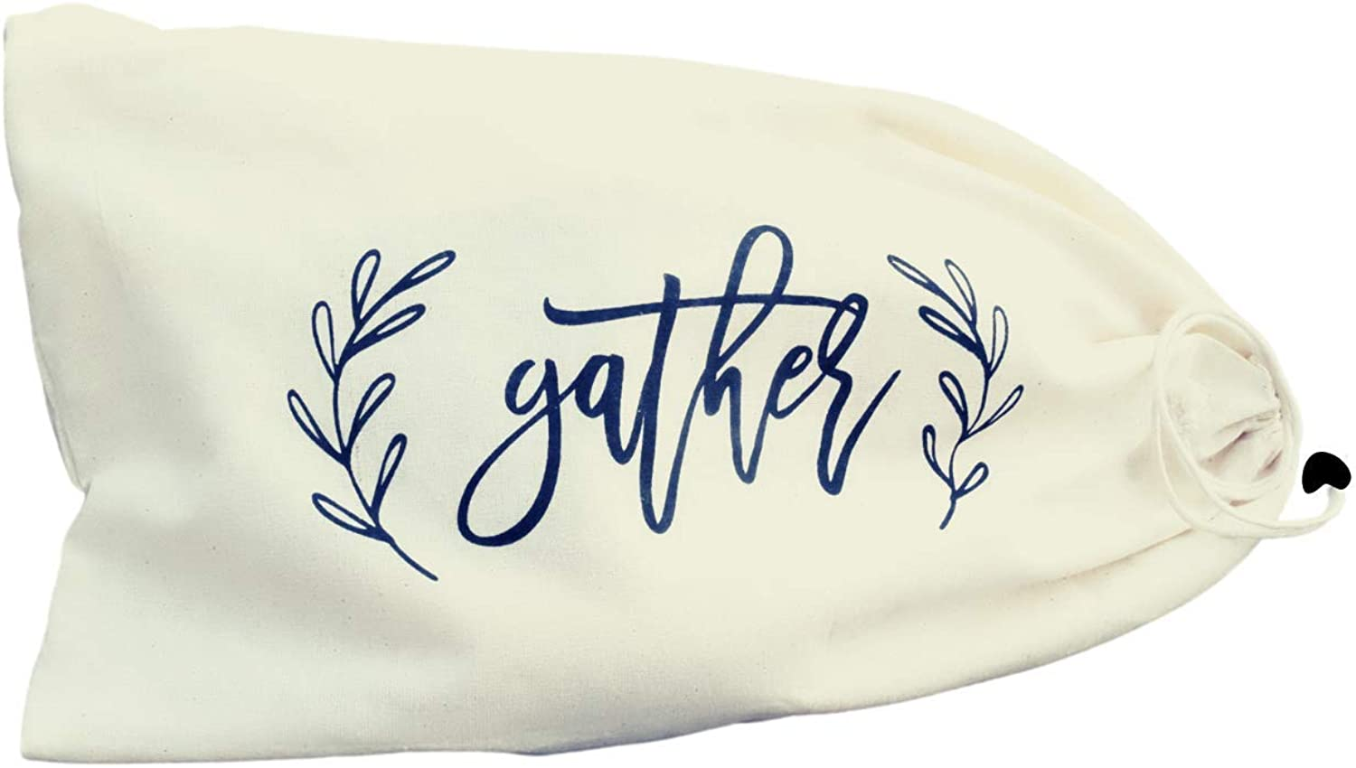 Organic Light and Airy Cotton Bread Bags - Farmhouse Gather Sign on Eco-Friendly , Reusable , Sustainable Bread Bags For Homemade Bread