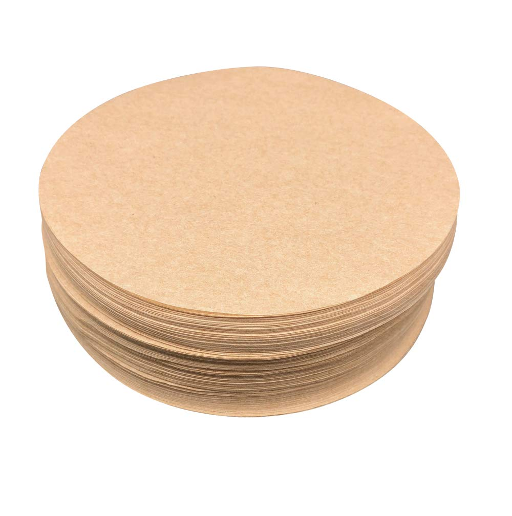 Worthy Liners Natural Parchment Paper Round 500 Pack (All Sizes Available) (12'') by Worthy Liners
