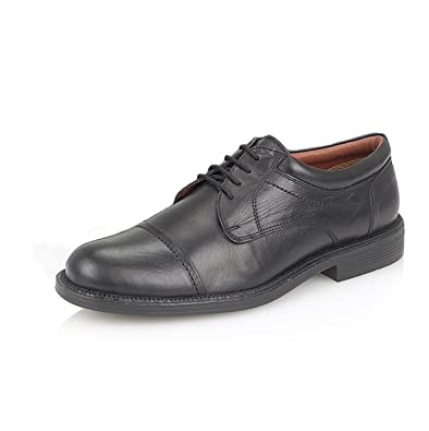 c21d0b55302 New Mens Black Real Leather Lace Up Capped Gibson Style Shoes in UK ...