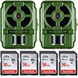 Primos 10MP Proof Cam 01 HD Trail Camera with Low-Glow LEDs, Green - Set of 2 with Memory Cards