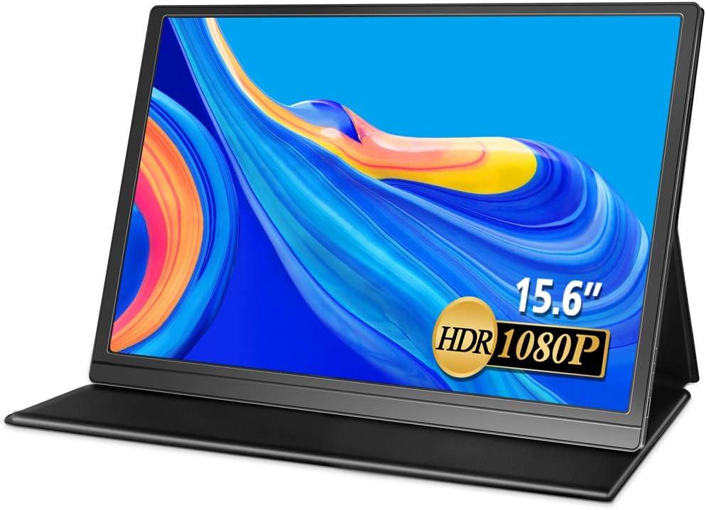 MISEDI 15.6インチ モバイルモニター モバイルディスプレイ 非光沢 薄型 軽量 IPSパネル USB Type-C/mini HDMI/PD 保護ケース付 PSE認証済み 3年保証付