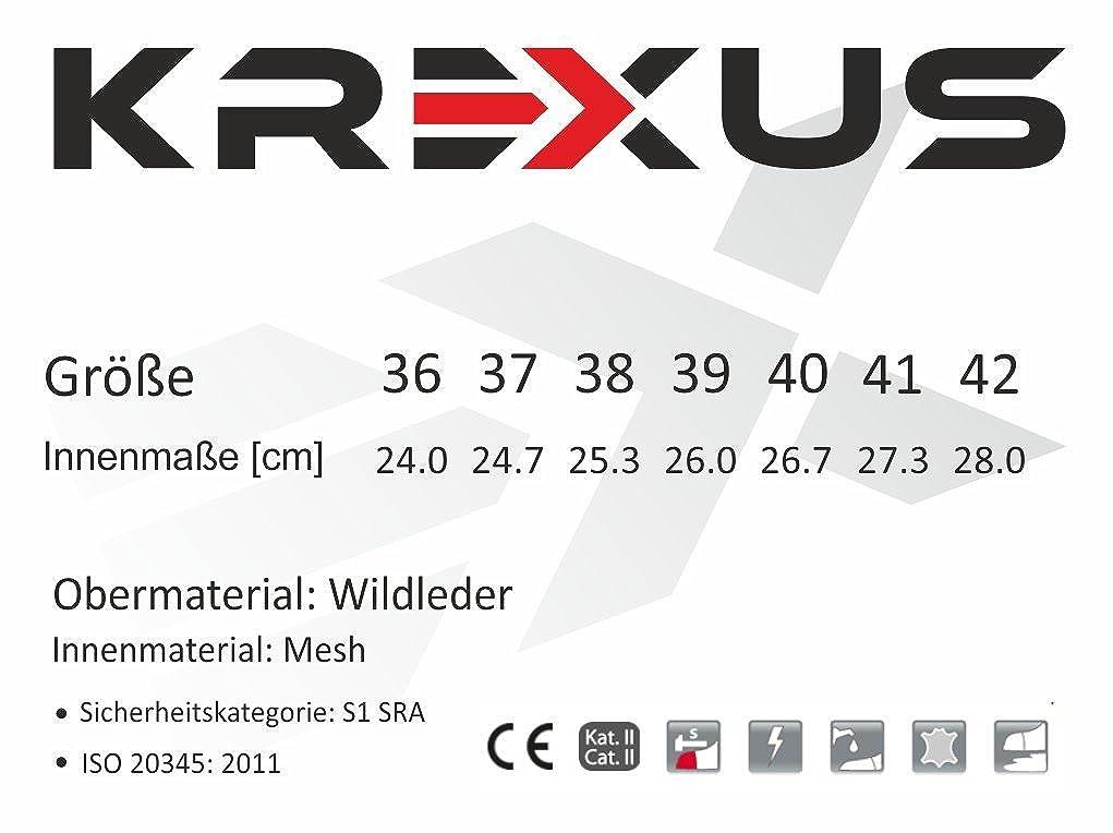 KREXUS Damen Arbeits & mit Sicherheitsschuhe Grau mit & Blau S1 SRA/ISO 20345:2011 - 951229