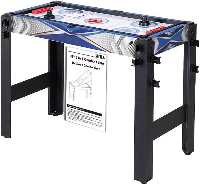 Umi. Essentials Mesa Multijuegos 5 en 1 Mesa de Juego para Billar ...