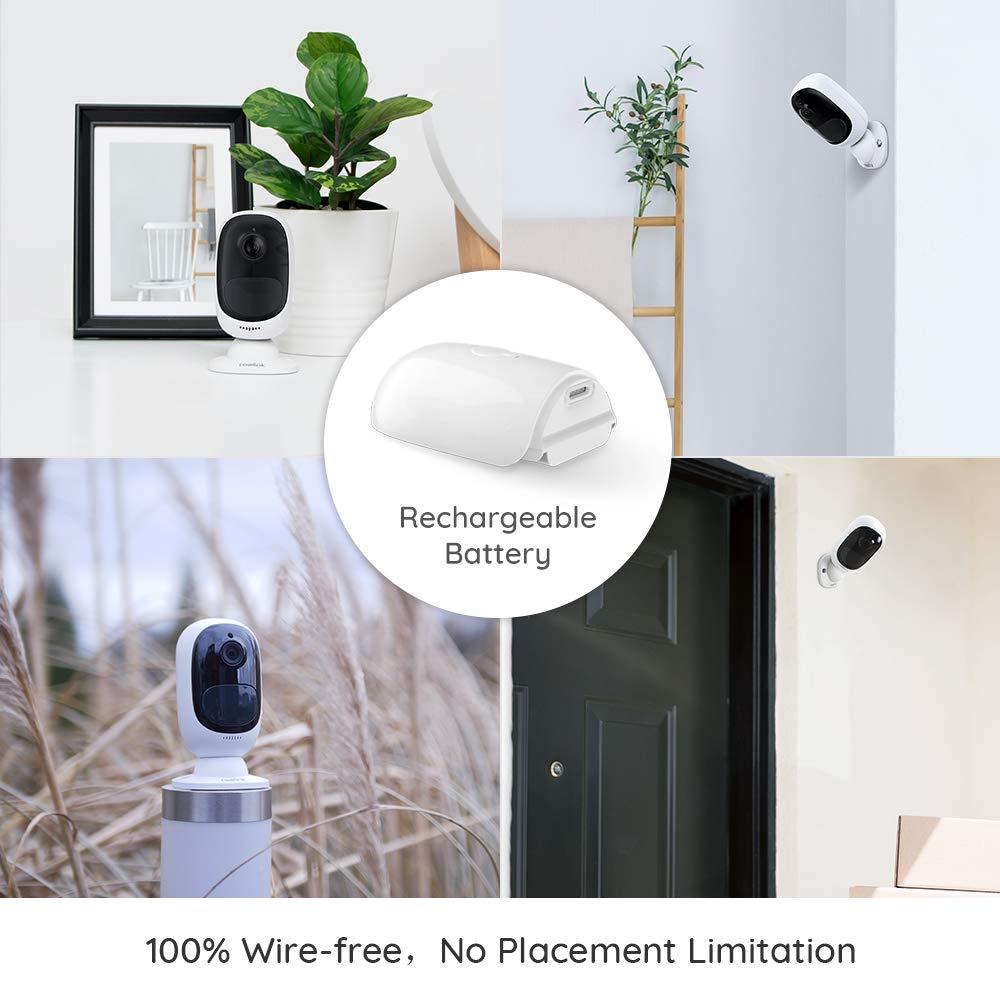 Cámara Argus 2 de Reolink con batería Recargable 1080p WiFi para Exteriores con Energía Solar Audio de 2 Vías con Visión Nocturna IR, Detección de ...