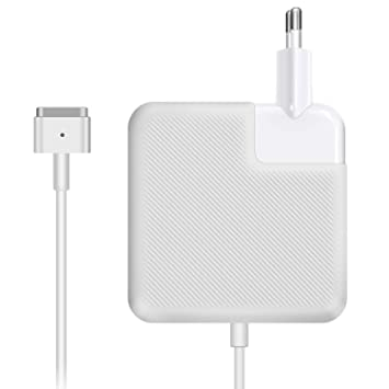 Koea Cargador MacBook Pro/Air, Cargador MacBook, 85W MagSafe 2 Forma de T Adaptador de Corriente Funciona con los Macbook 45W/60W/85W-13 15