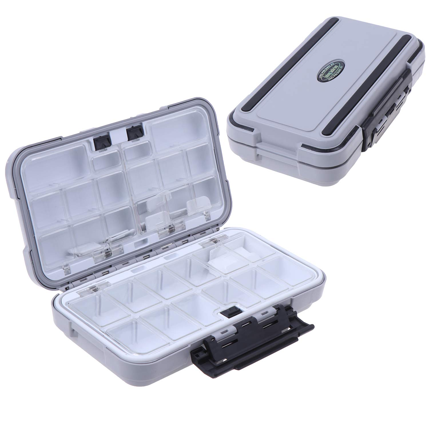 MeiMeiDa Waterproof Fishing Lure Box,Bait Storage Tackle Box Containers for Bait Casting Fishing Fly Fishing,Large Medium Lure Case Available