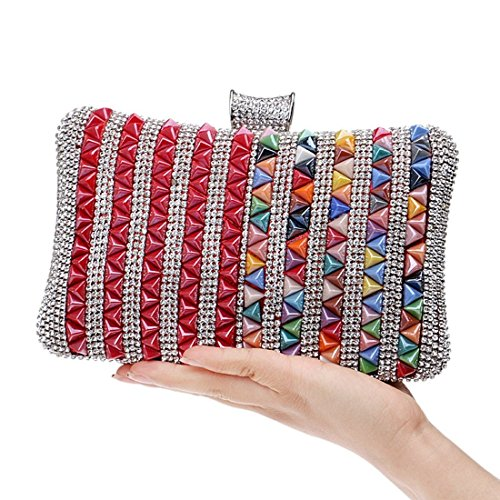 Female New Multicolor Banquet Dress Fly Bag 4 Clutch Bag bag Diamond Bag encrusted Dinner evening Color Multicolor Bag Evening 1 gEPnaWqwdW