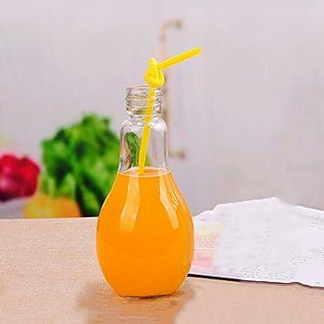 Botella de bebida bombilla bonita para bebida Jugo Juicer Leche (entrega al azar, en