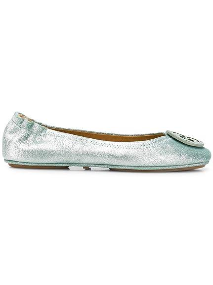 d24253d62 Tory Burch Women s 53289304 Green Leather Flats  Amazon.co.uk  Shoes ...