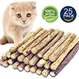 Matatabi Cat Catnip Sticks 25 Pcs or 50 pcs Cat Chew Sticks Dental Cleaning for Cats Organic Silver Vine Dental Treats Molar Chew Toy
