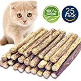 Matatabi Cat Catnip Sticks 25 Pcs or 50 pcs Cat Chew Sticks Dental Cleaning for Cats Organic Silver Vine Dental Treats Molar Chew Toy