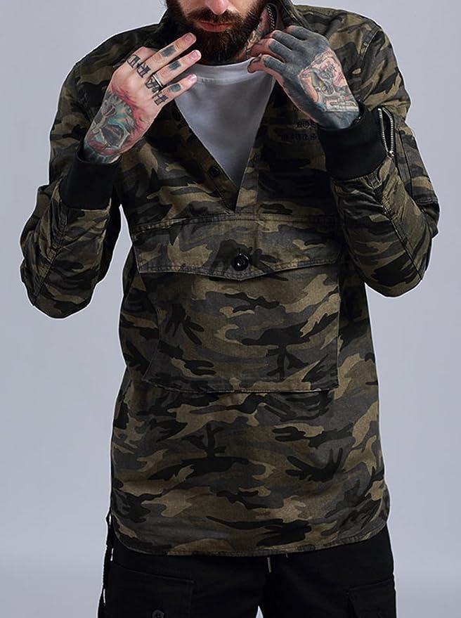 da648905a64f1 OXFLY Men's Camo Thumb Holes Hunting Shirts at Amazon Men's Clothing store: