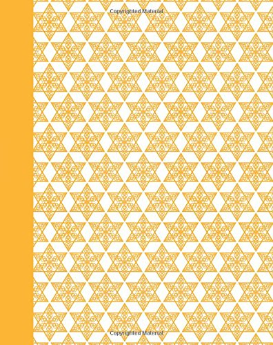 Journal: Mogen David Pattern (Yellow) 8x10 - GRAPH JOURNAL - Journal with graph paper pages, square grid pattern (8x10 Holiday Graph Journal Series)
