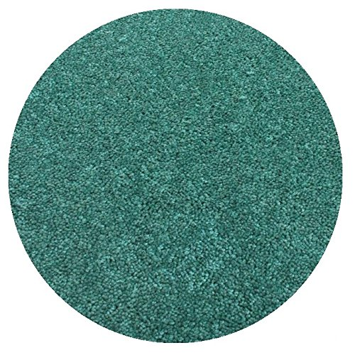 (7' ROUND Area Rug Carpet. CARRIBEAN OCEAN TEAL BLUE 30 oz. ½
