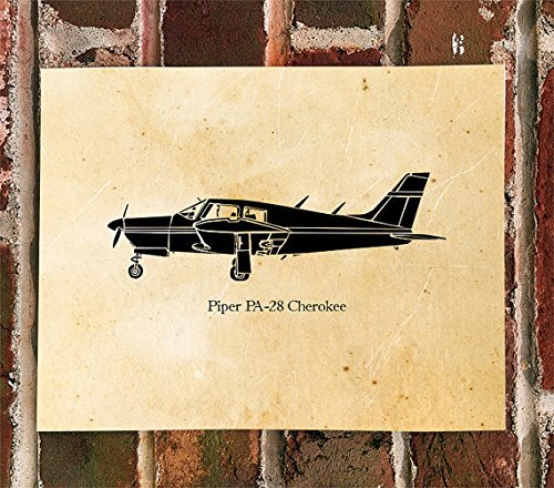 KillerBeeMoto: Limited Print Piper PA-28 Cherokee Arrow Airplane Print 1 of 50