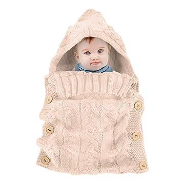 sale retailer 32a8e 31b29 Newborn Baby Wrap Swaddle Blanket Knit Toddler Sleeping Bag Sleep Sack  Stroller Wrap, Best for 0-6...