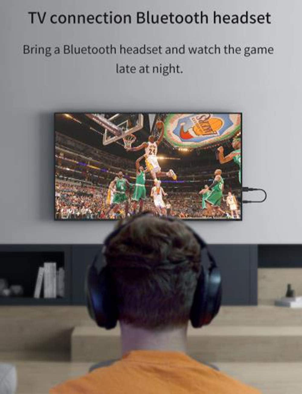 Goldoars Adaptador Bluetooth Transmisor USB 5.0 Receptor con l/ínea de Audio de 3.5 mm PC Adaptador inal/ámbrico de transmisor Bluetooth para TV Auriculares Sistemas de Sonido para autom/óviles