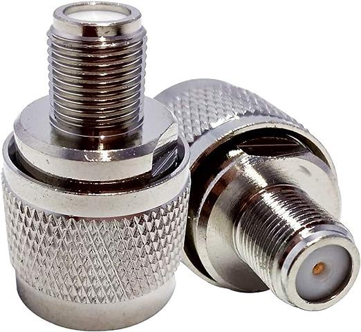 Adaptador coaxial para TV N macho a F hembra, 9,5 mm, conector adaptador coaxial RF para antena de satélite
