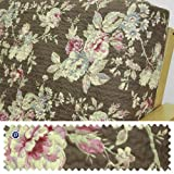Quilted Floral Chocolate Fitted Mattress Cover Twin 267