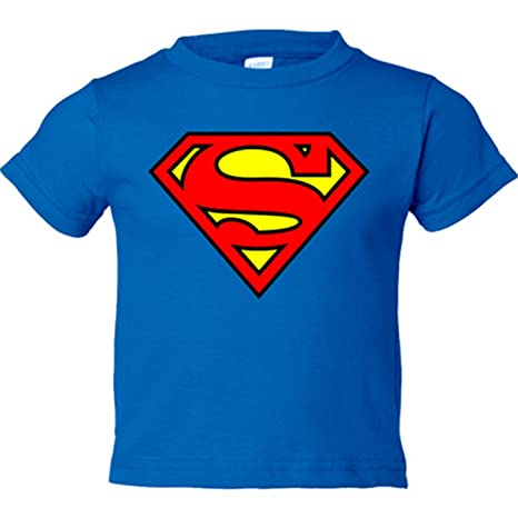 Camiseta niño Superman logo - Azul Royal, 3-4 años