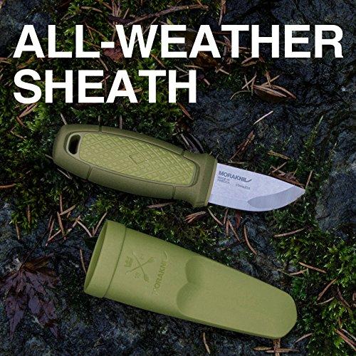 Morakniv Eldris Fixed-Blade Pocket-Sized Knife with Sandvik Stainless Steel Blade and Plastic Sheath, Green, 2.2 Inch by Morakniv (Image #3)