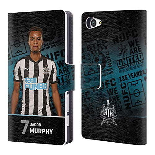 Murphy Wallet Compact (Official Newcastle United FC NUFC Jacob Murphy 2017/18 First Team 2 Leather Book Wallet Case Cover for Sony Xperia Z5 Compact)