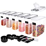 ME.FAN Medium Cereal Storage Containers [Set of 6] Airtight Food Storage Containers 2.5L(85.4oz) - Kitchen Storage…