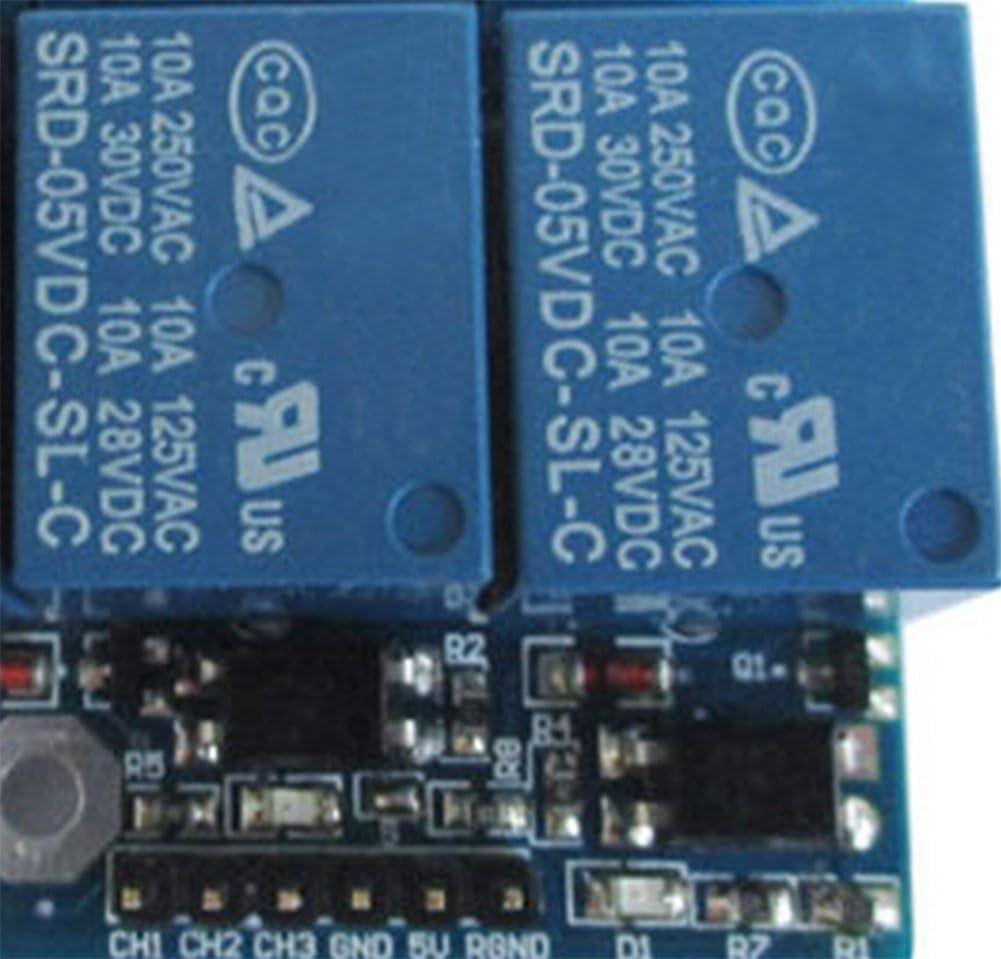 42 Mackur 3-CH Relay Relais Module DC 3.3v 5v mit Optokoppler High und Low Level Trigger f/ür Arduino 63 20mm 1 St/ück