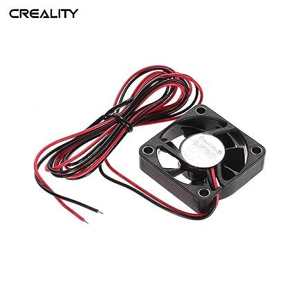 Aibecy Creality 3D 4010 ventilador de refrigeración sin escobillas 40 * 40 * 10 mm 24 VCC con rodamiento de bolas para Ender 3 impresora 3D Extrusora