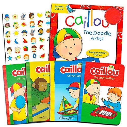 Caillou Board Book Set for Toddlers Kids -- 5 Books and Bonus Stickers (Party -