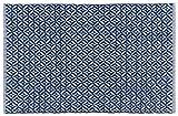 Now Designs 24 by 36 inch Diamond Weave Kitchen Mat, Indigo Blue