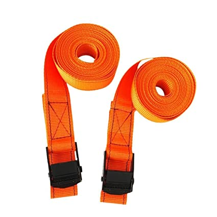 """Kayak SUP Trailer Red 16ft 1/"""" Car Roof Rack Tie Down Strap with Cam Buckle"""