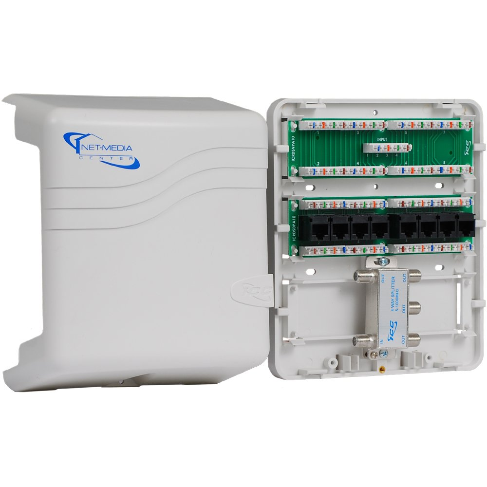 ICC Mini Combo Voice/Data/Video Structured Wiring Enclosure